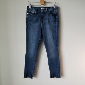 Good American Good Legs Raw Hem Jeans High Rise